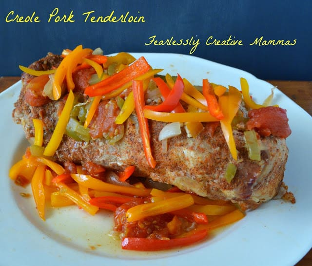 Slow Cooker Creole Pork Tenderloin