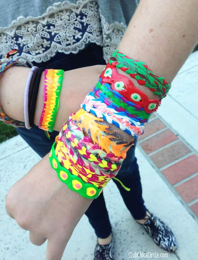 DIY Puffy Paint Bracelets