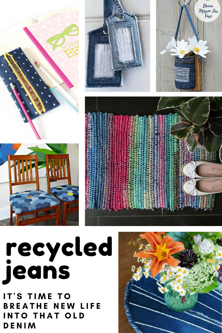 So many things you can make with recycled jeans! I love the idea of turning thrifted denim into cute home decor and accessories!
