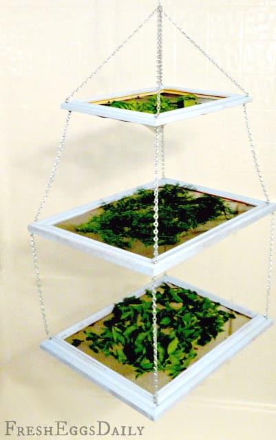 Make a tiered herb drying rack