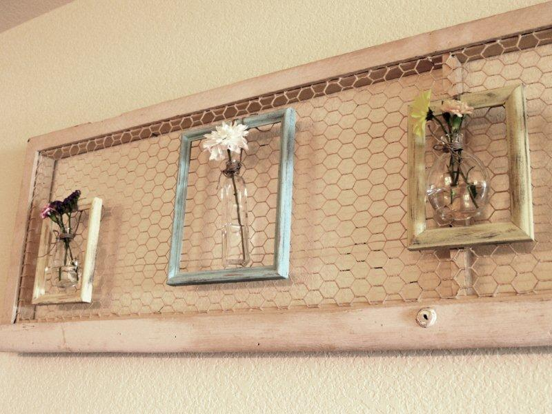 Make some framed flower vases