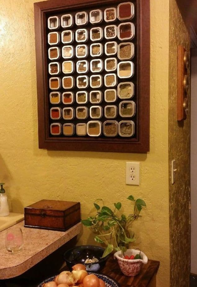 Make a magnetic spice rack