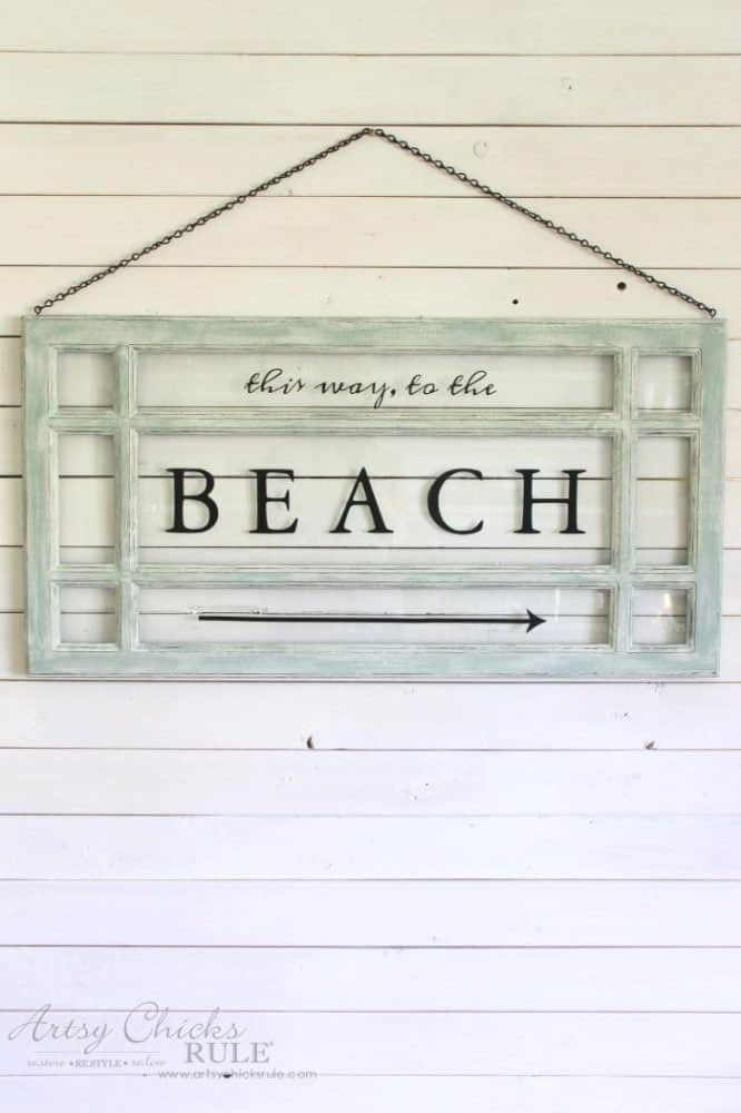 Old Window Beach Sign