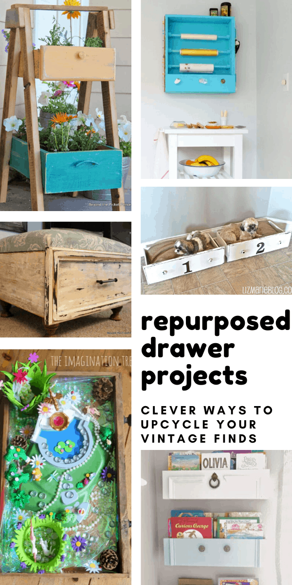 Repurpose Dresser Drawers