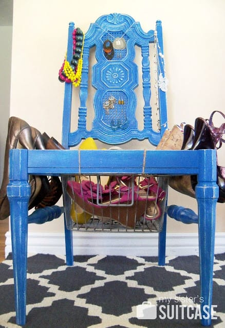 Turn an old chair into an accessory station