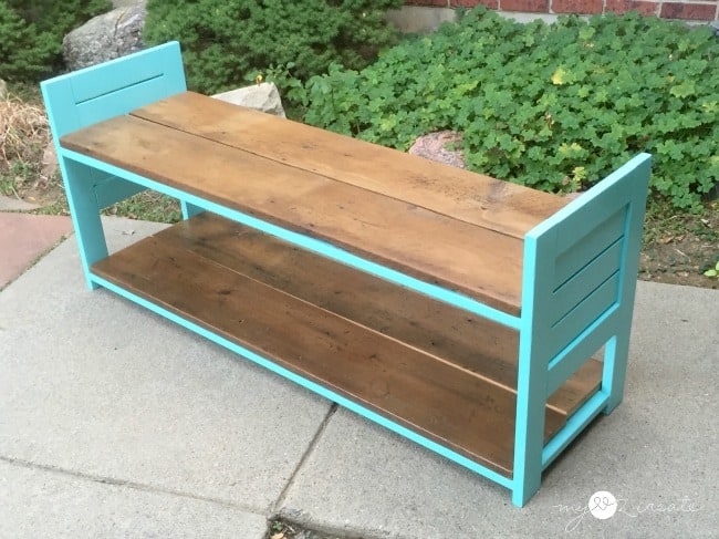 Turn an old sun lounger into a storage bench