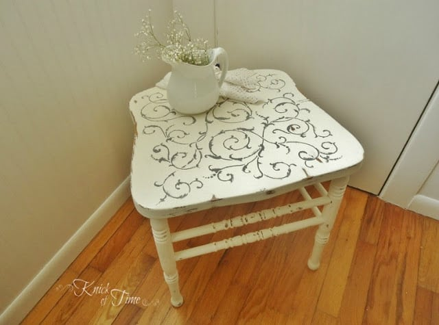 Repurpose a broken chair as a stool