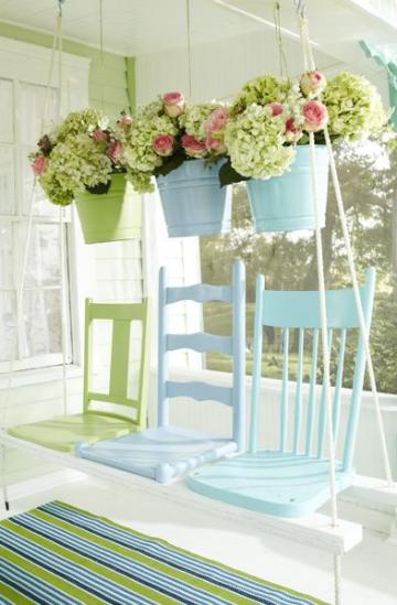 Take three chairs and make a porch swing