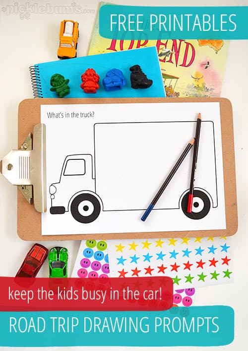 Free Printable Road Trip Drawing Prompts