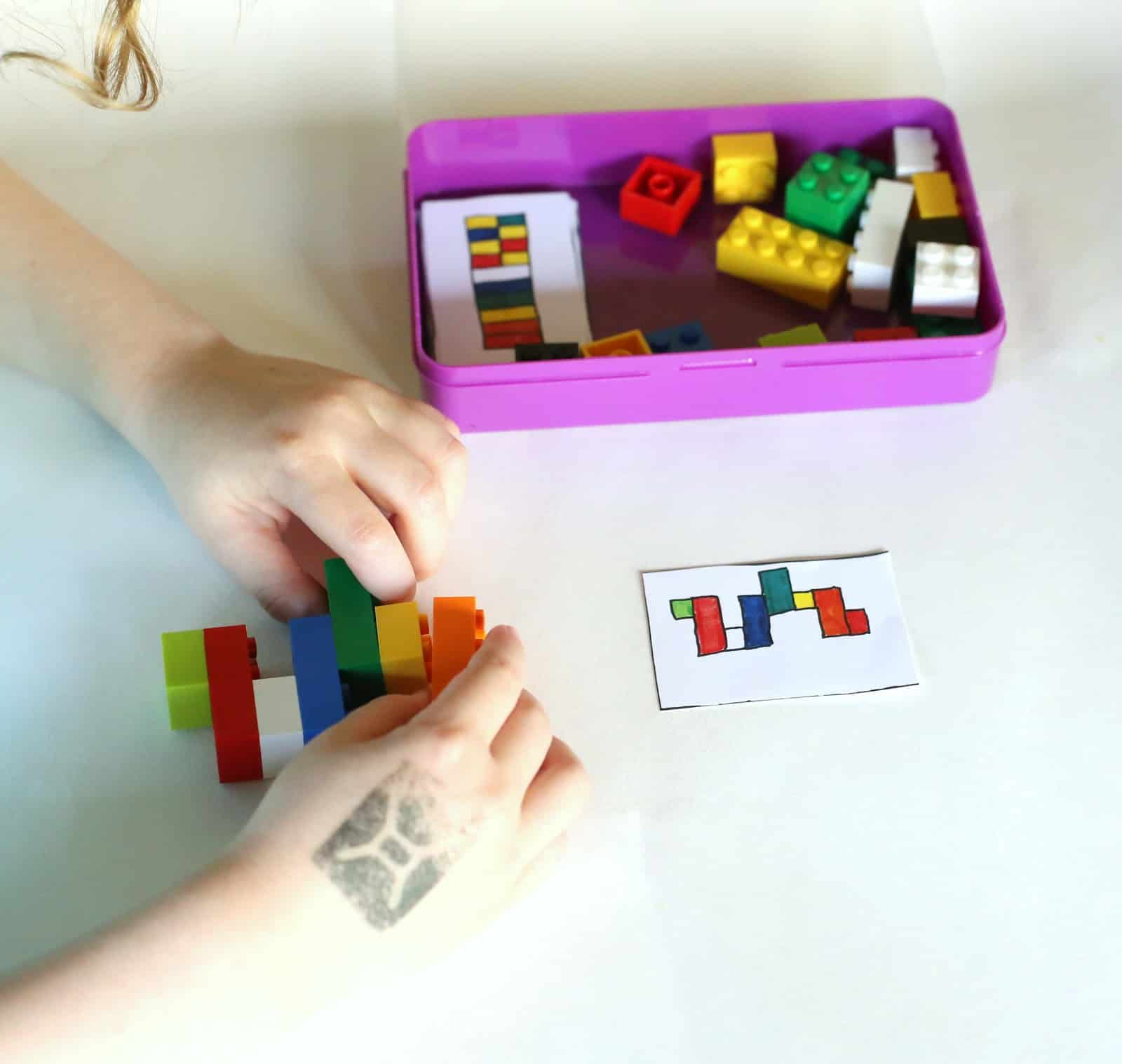 DIY Portable LEGO Kit with 24 Free Printable Activity Cards