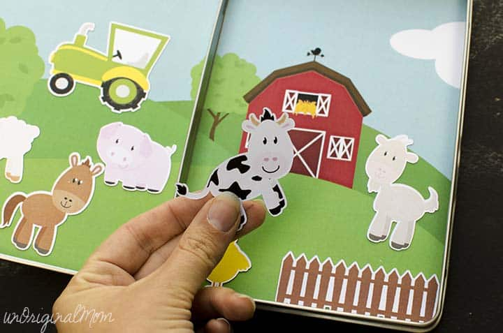 Magnetic Travelling Farm Toddler Game