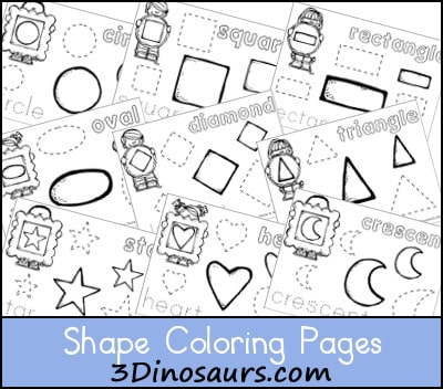 Shape Colouring Pages