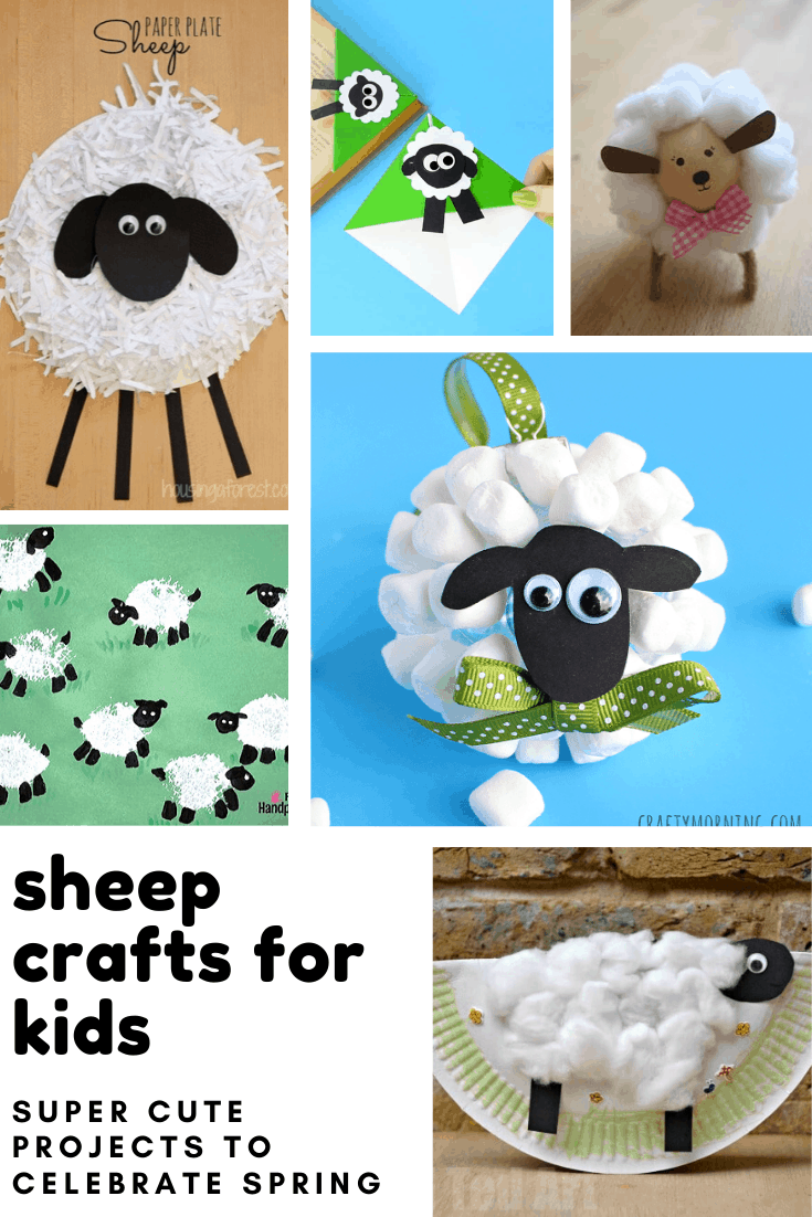 These sheep crafts for kids are super adorable and your toddlers and preschoolers will have a blast making them!