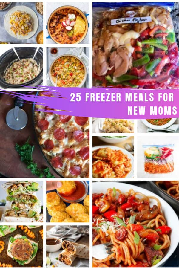 These simple freezer meals for new moms are the perfect way to take the stress out of feeding your family #freezermeals #newmom #pregnancy