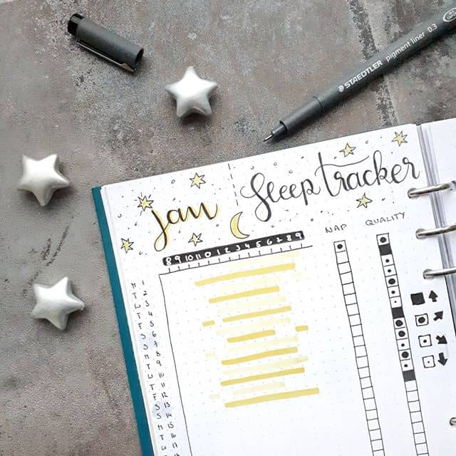 Bullet Journal Sleep Tracker