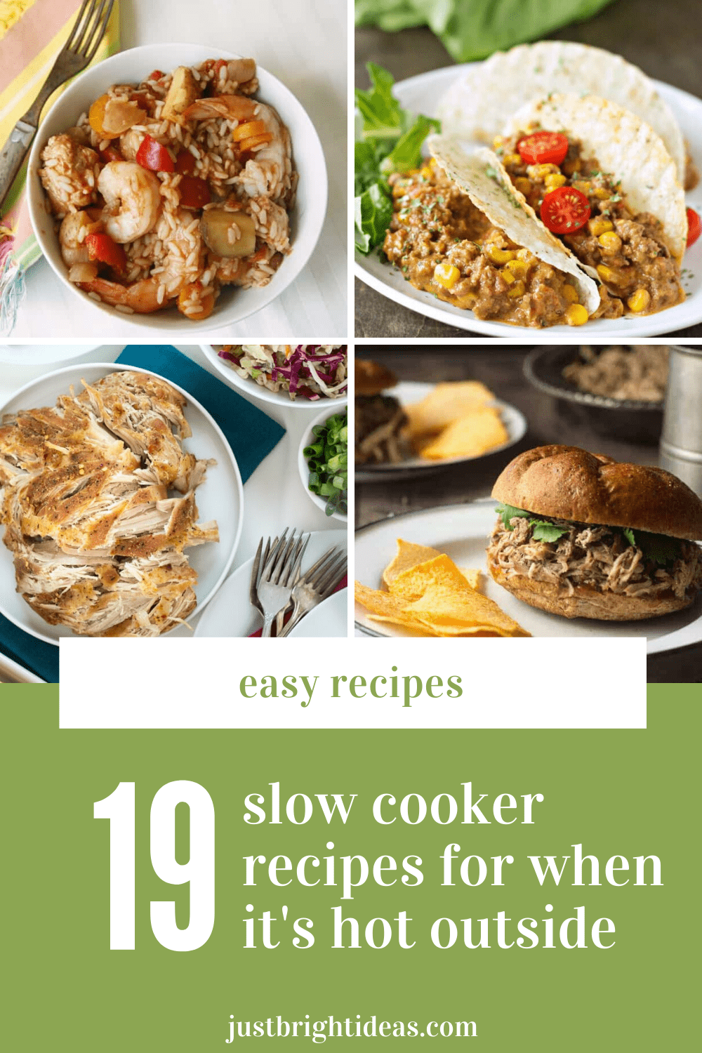 These summer slow cooker recipes are a must have on your meal planning rotation when it's hot outside