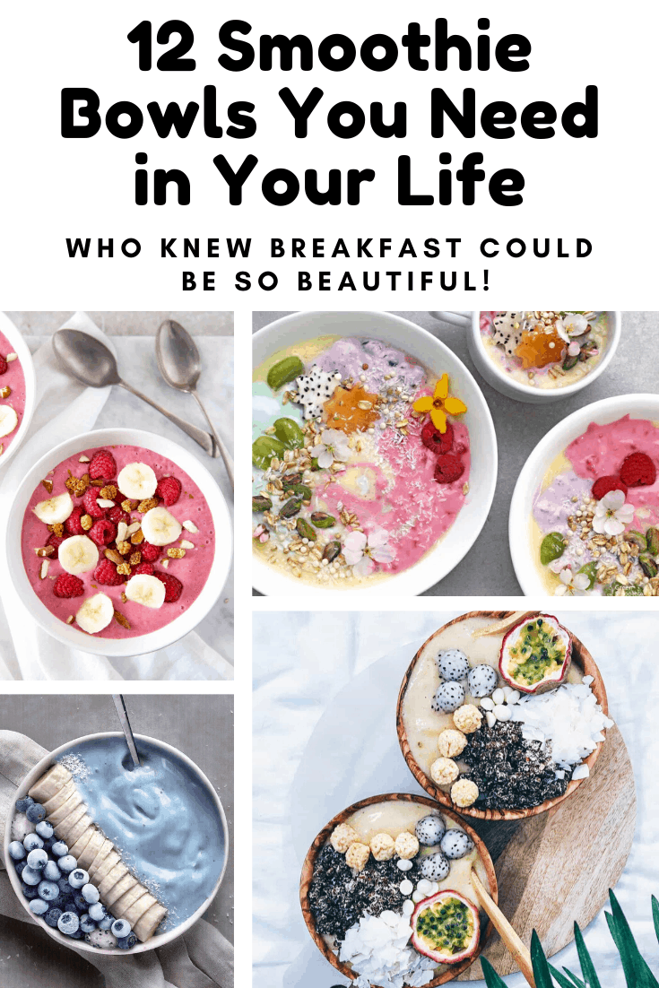 If you're looking for smoothie bowl recipes to make sure you eat a healthy breakfast click through to see all of our beauty bowl ideas! #smoothiebowl #recipe #food #breakfast