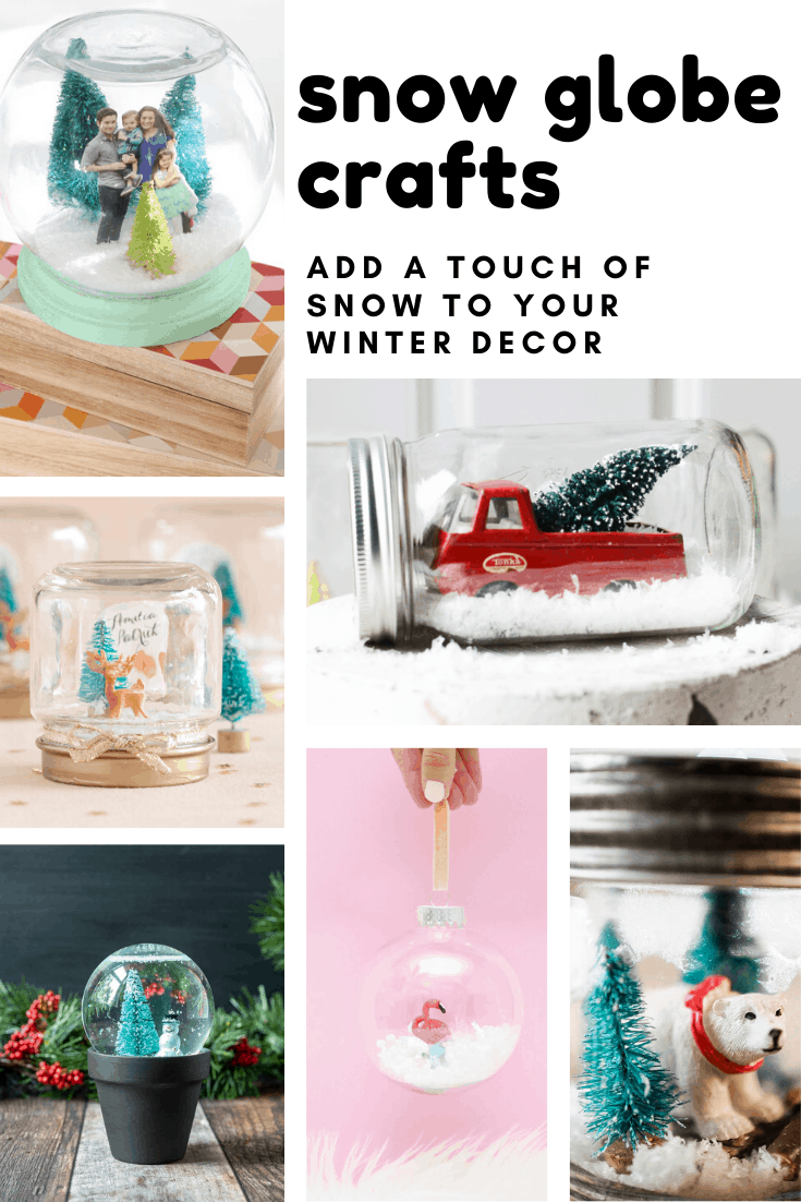 Loving these snow globe crafts for kids and grownups to DIY together!