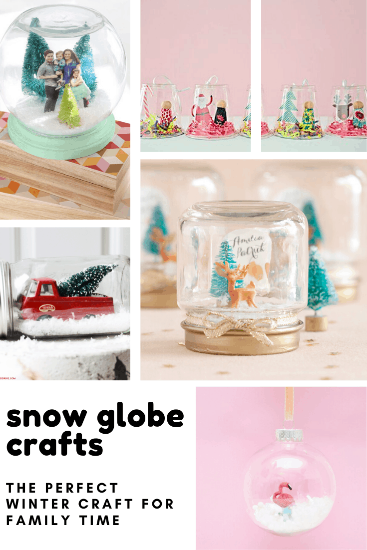 Loving these snow globe crafts - they're cute, easy to make and just what we need to guarantee there'll be snow this Christmas!
