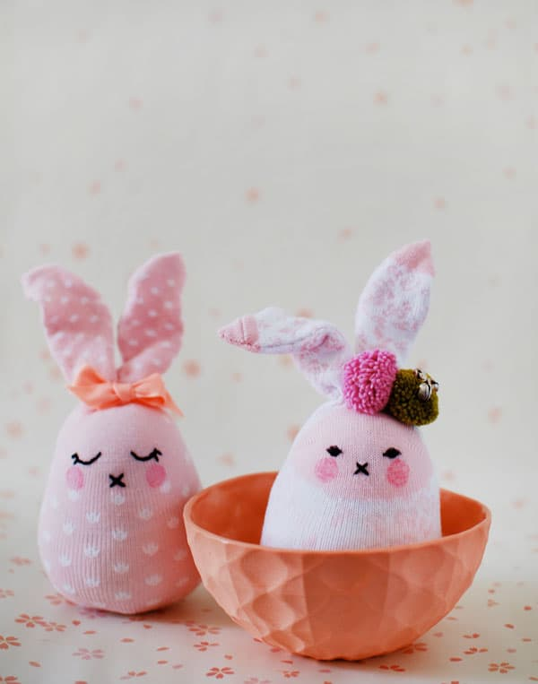 How to Make Easter Bunny Softies From Socks