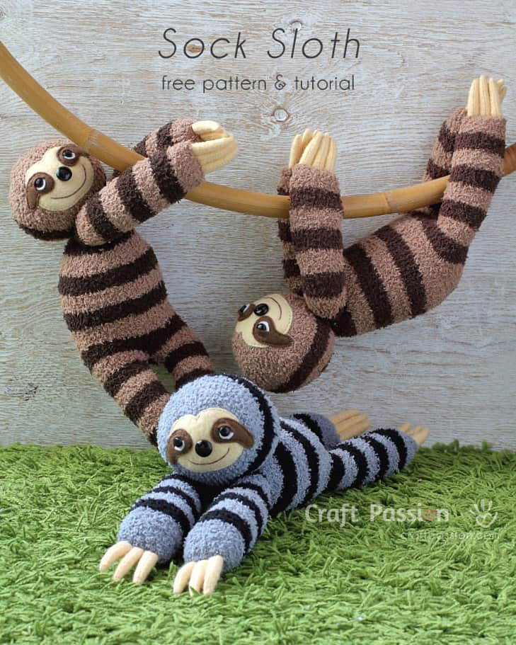 Sock Sloth Pattern and Tutorial