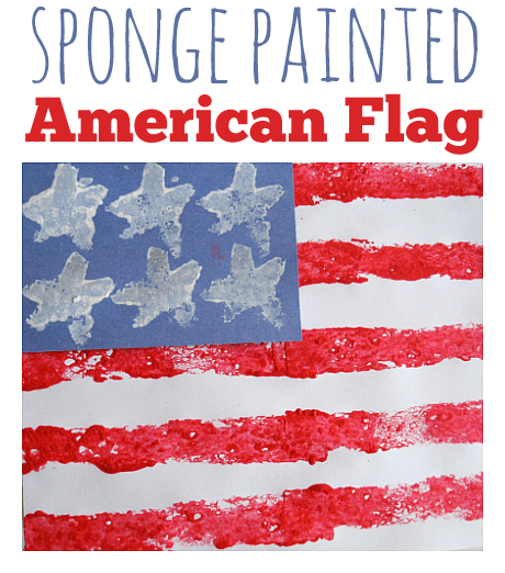 Sponge Painted American Flag