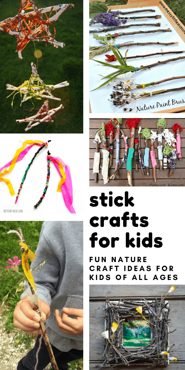Loving these stick crafts for kids - so many fun projects for kids who love to pick up sticks on your nature walks!
