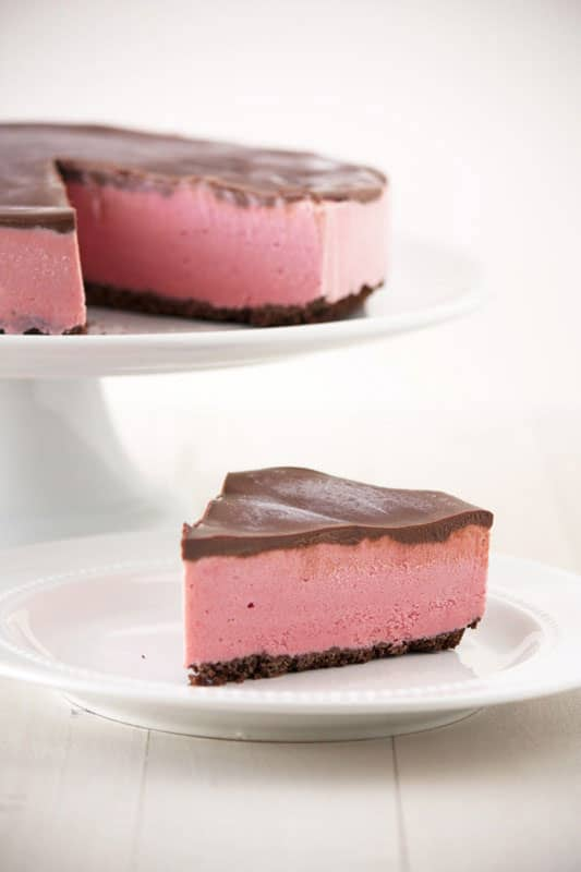 Chocolate Covered Strawberry Ice Cream Pie