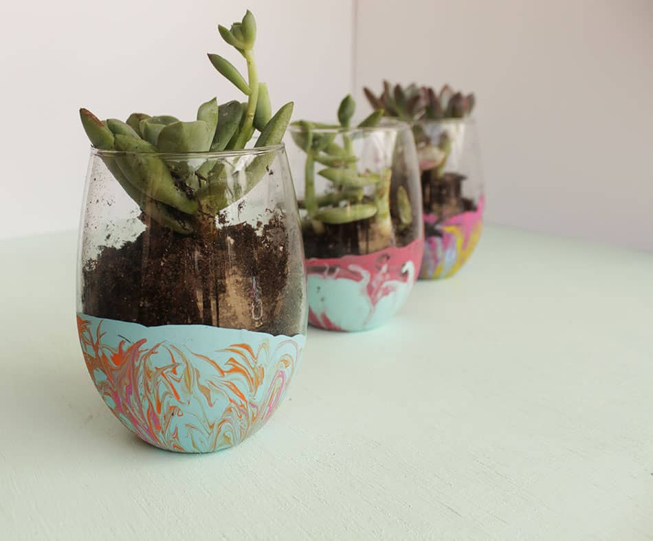 Make your own dipped succulent plant holders