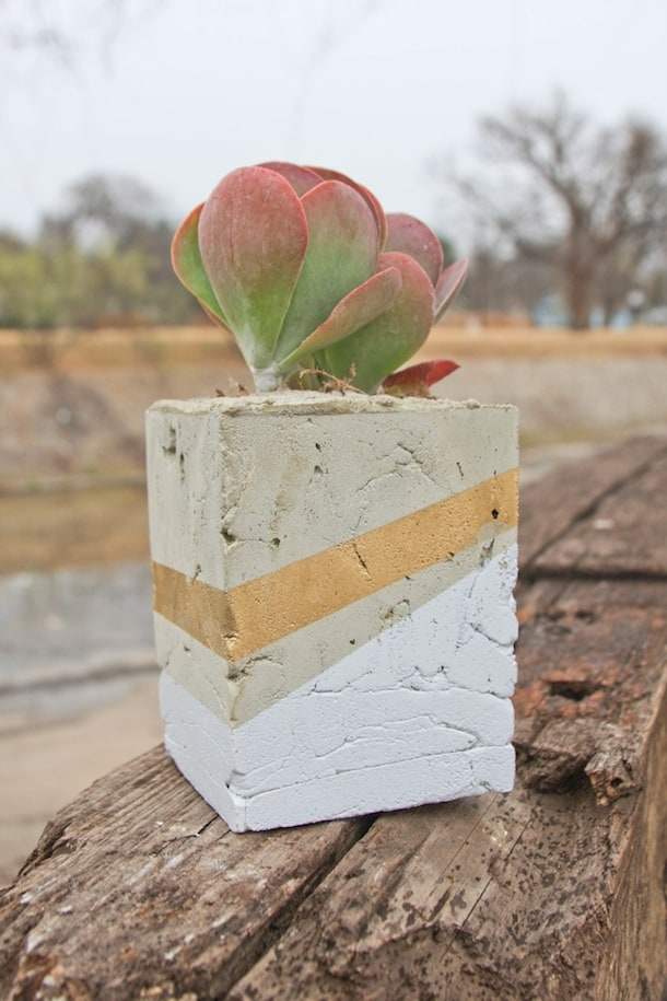 Make your own cement planter