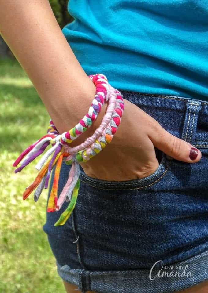 How to Make Bracelets from Recycled Tshirts