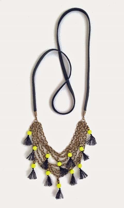Neon Pop Tassel Necklace