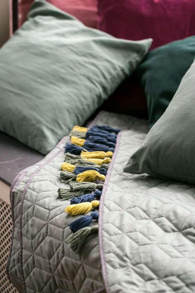DIY Tassel Bedspread