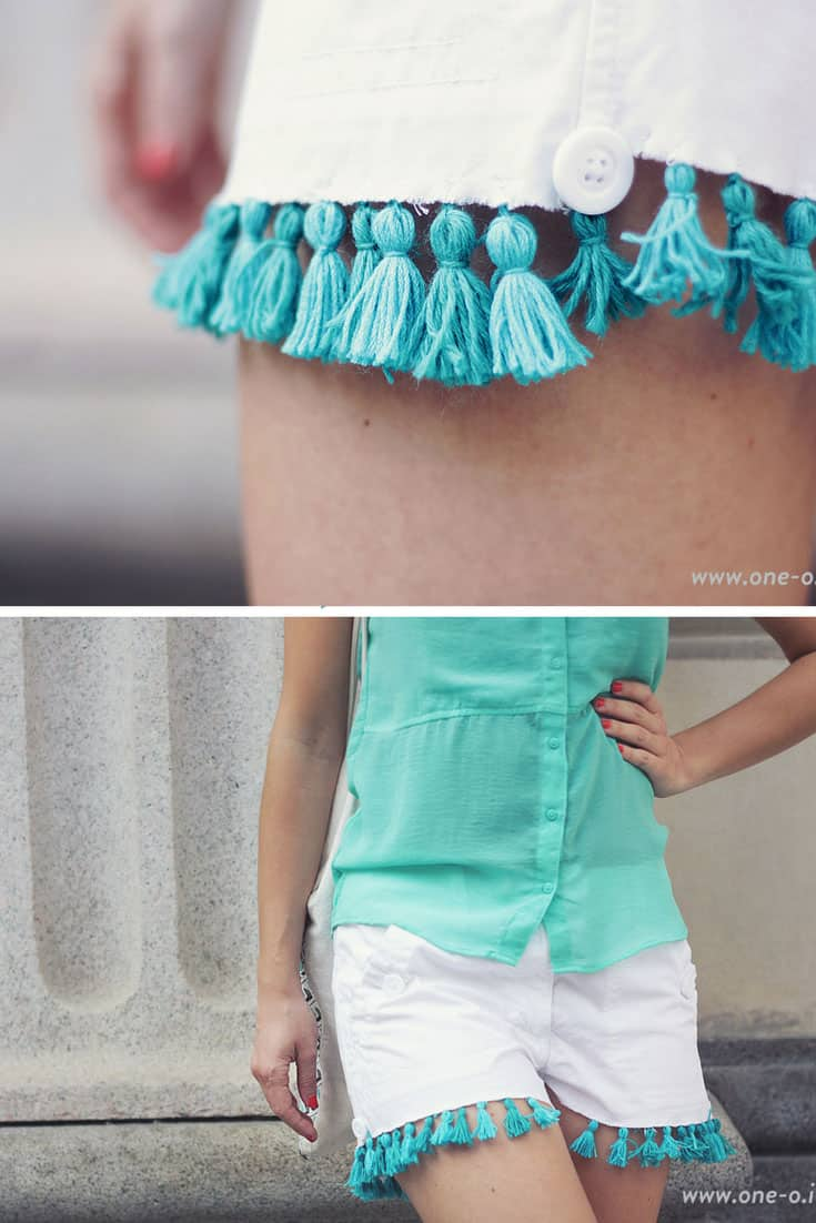 DIY Tassel Shorts