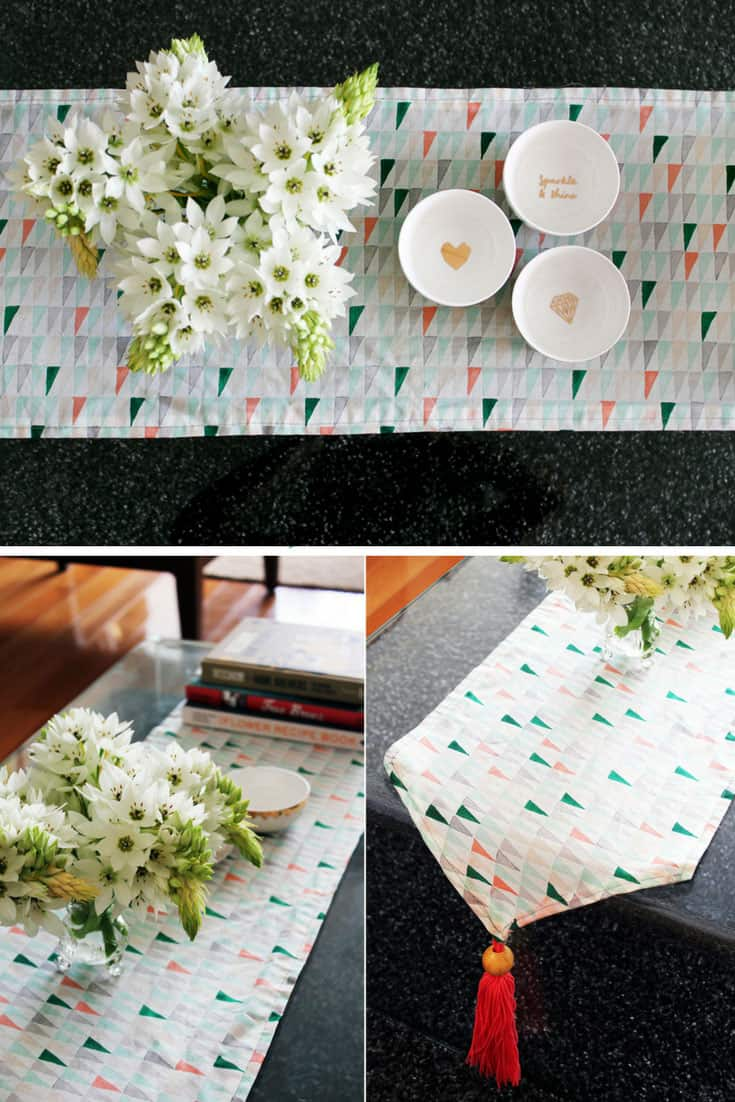 DIY Tasseled Table Runner