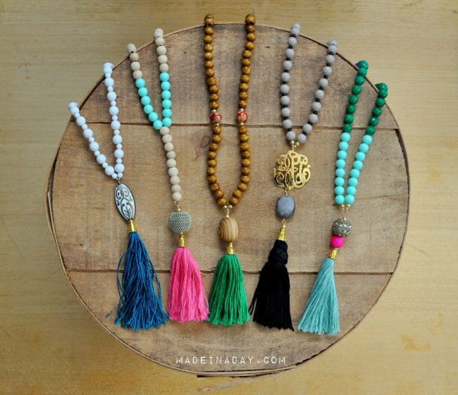DIY Beaded Tassel Necklaces