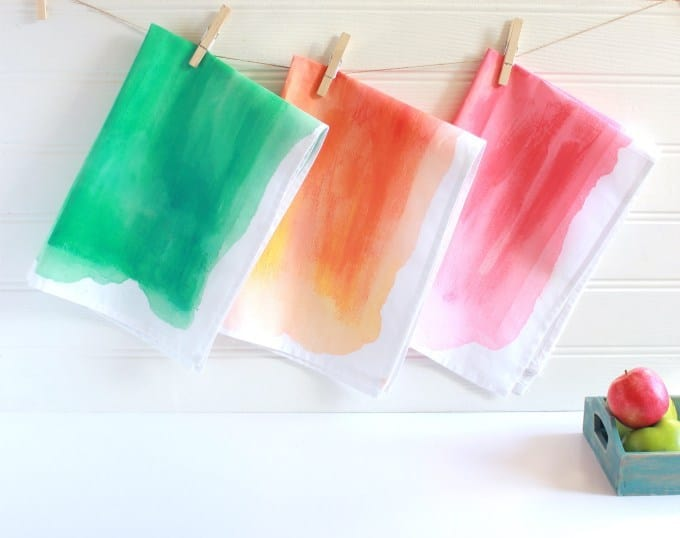 Watercolour tea towels