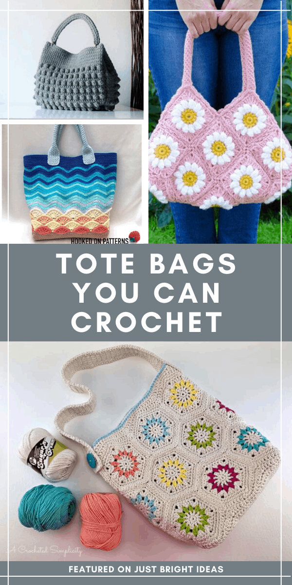 You can never have too many tote bags and these crochet projects are just what you need for carrying everything from library books to your farmer's market produce! #standwithsmall #ad