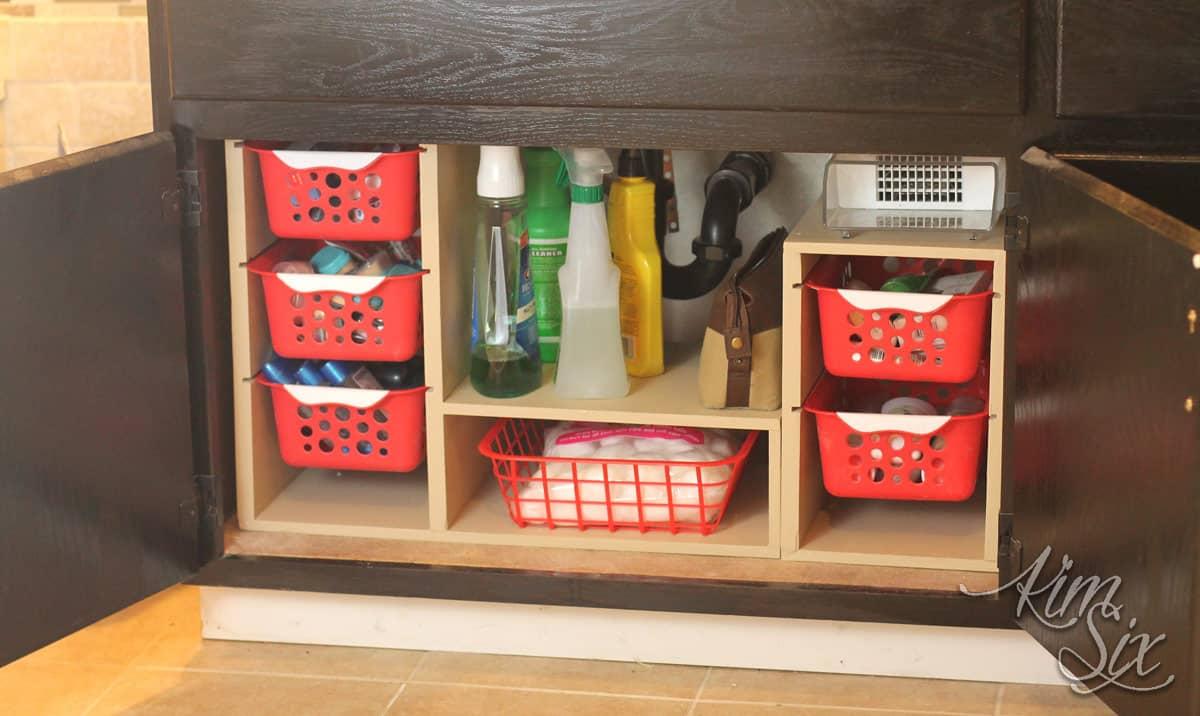 DIY Undersink Cabinet Organizer