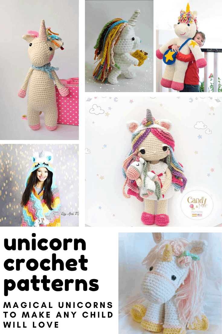 So many cute unicorn crochet patterns! From stuffed toys and blankets to slippers and dolls there is something here any child will love to receive!