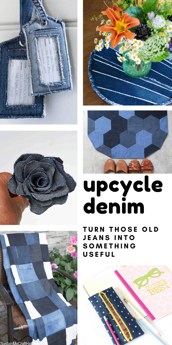 So many cute upcycle denim projects! I love the idea of taking that old worn out denim and turning it into something new!