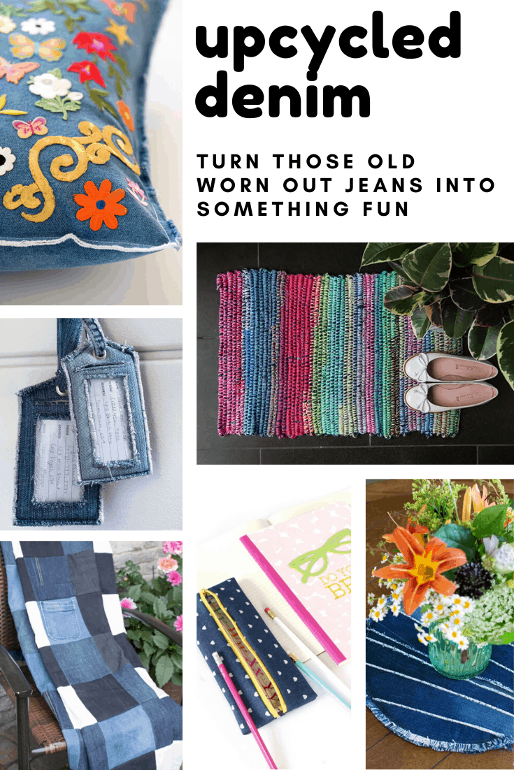 So many cute upcycled denim jeans projects to turn something old into something new and useful!