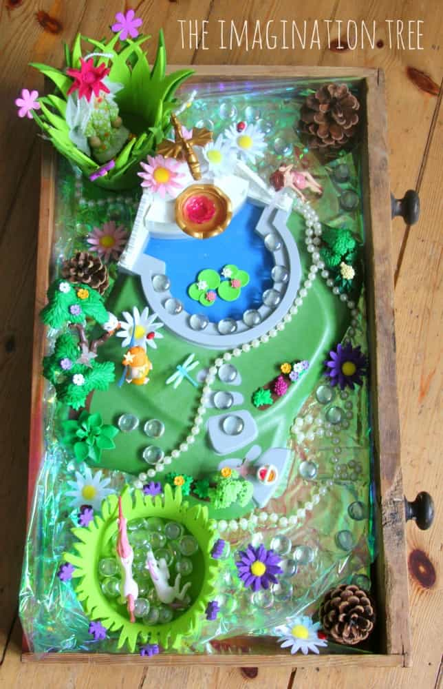 Make a fairy garden in your old drawer