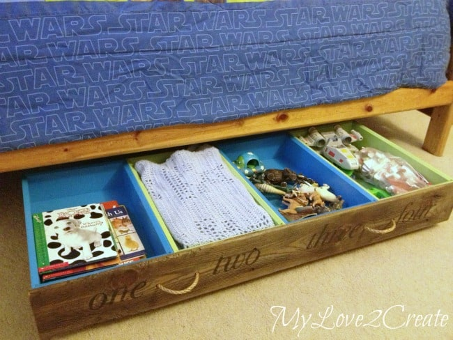 Combine some old drawers into underbed storage