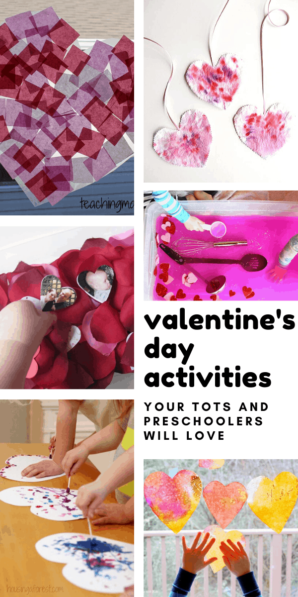 These easy Valentine's day activities and crafts are perfect for your toddler or preschooler