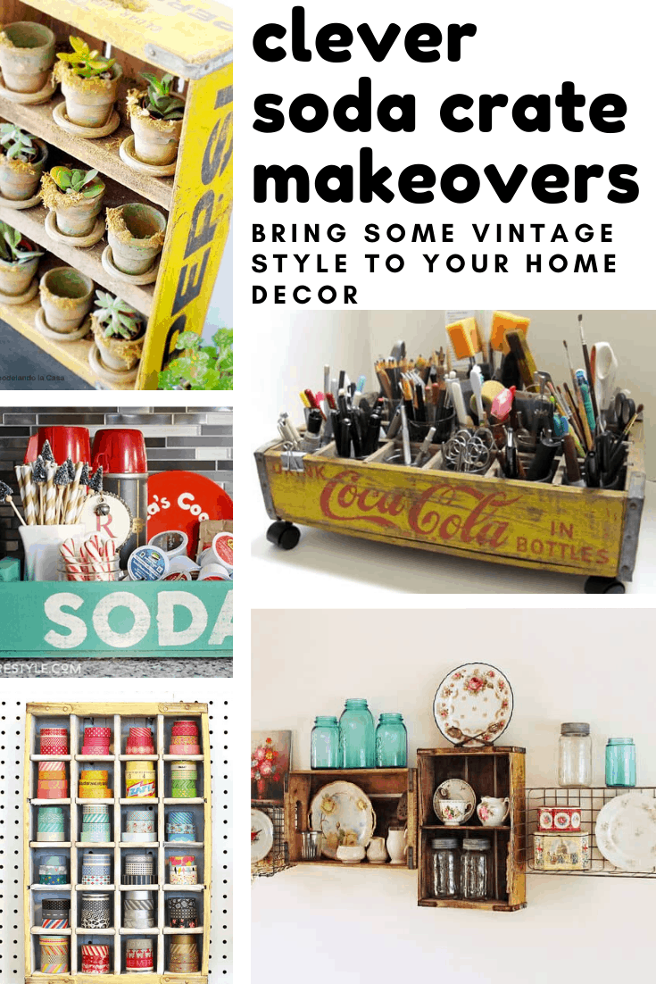 Quick! Run to the flea market and stock up on vintage soda crates - because these repurposing diy projects are so much fun!