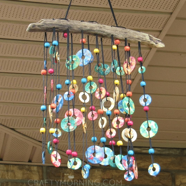 Washers windchime craft from Crafty Morning
