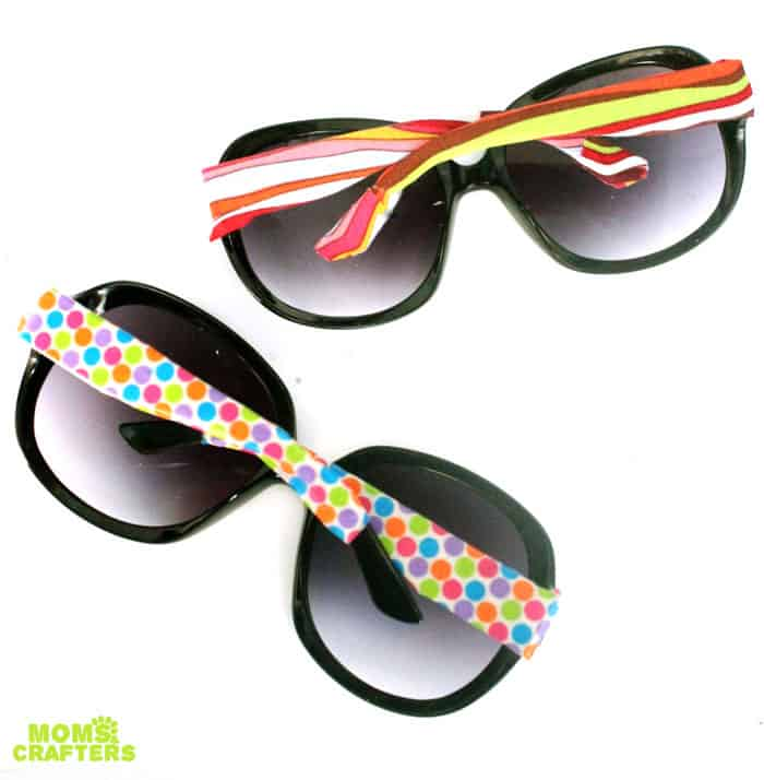 Washi tape sunglasses