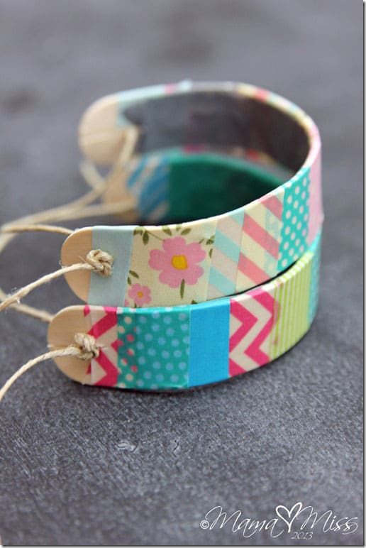 Washit Tape Wooden Bracelets