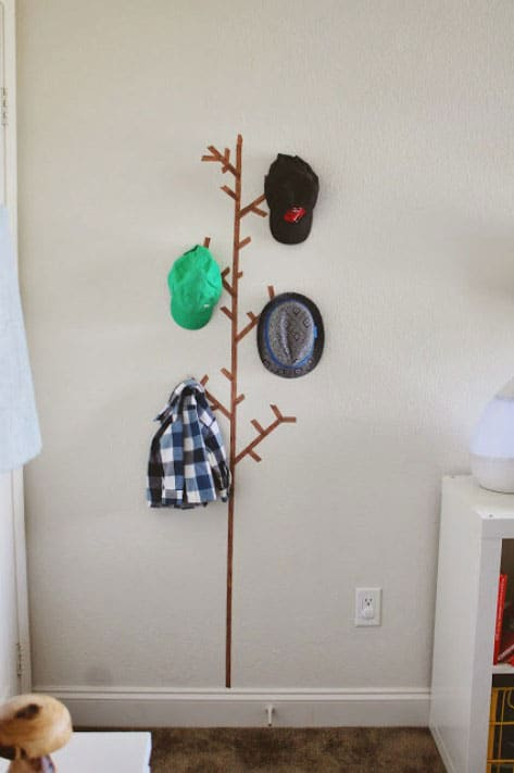 Washi tape coat tree